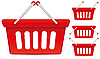 Vector clipart: shop baskets
