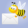 Vector clipart: bee mailer