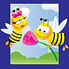 Vector clipart: bees in love