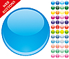 Vector clipart: round web buttons