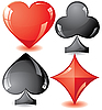 Vector clipart: playing card suits