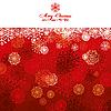 Векторный клипарт: красная рождественская поздравительная открытка