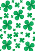 Vector clipart: clover background