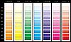 Vector clipart: color palette CMYK