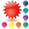 Vector clipart: colored glass buttons
