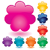 Векторный клипарт: цветные веб-кнопки