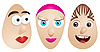 Vector clipart: eggs with faces 2