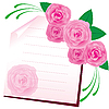 Vector clipart: Floral rose card
