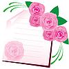 Векторный клипарт: лист бумаги с розами