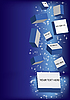 Векторный клипарт: падающий свет с блоками для текста