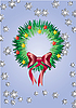 Vector clipart: card with fir wreath