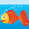 Vector clipart: goldfish at sea