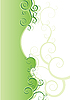 Vector clipart: floral green background