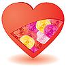 Vector clipart: flowers in heart