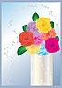 Vector clipart: flowers in vase
