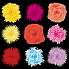 Vector clipart: flowers set