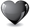 Glitter black heart | Stock Vector Graphics