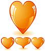 Vector clipart: orange hearts