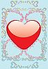 Vector clipart: heart card