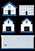 Vector clipart: houses