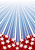 Vector clipart: Background with elements of USA flag