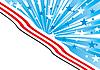 Векторный клипарт: синий фон с полосами и звездами
