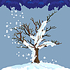 Lonely winter tree | Stock Vector Graphics
