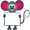 ID 3011659 | Cartoon mysz z wyraźnym ramki dla tekstu | Klipart wektorowy | KLIPARTO