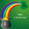 Vector clipart: Background with clovers for St.Patrick`s day