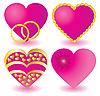 Vector clipart: pink heartss