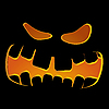Vector clipart: Halloween pumpkin face