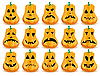 Vector clipart: pumpkin face