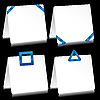 Vector clipart: Note pads with blue tape