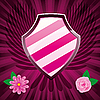 Vector clipart: Pink shield