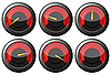 Vector clipart: Red speedometers