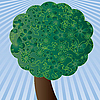 Vector clipart: Green spring tree and the sky