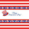 Vector clipart: Independence day card