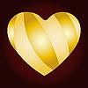 Vector clipart: golden heart card