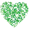 Vector clipart: Valentine card - leaf heart