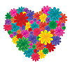 Vector clipart: Valentine card - flower heart
