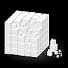 Vector clipart: White cube with parts