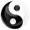 Vector clipart: Yin yan sign