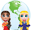 Vector clipart: Friendship and globe