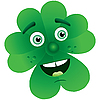 Vector clipart: Clover with face
