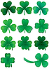 Vector clipart: Set of clovers