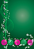 Decorative green greetings card