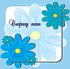 Vector clipart: blue flower card