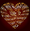 Vector clipart: Gold text about what love is