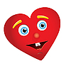 Vector clipart: heart with face