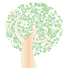 Vector clipart: Spring tree